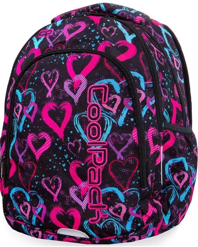 Plecak CP CoolPack Młodzieżowy Kolorowe Serca [B25038
