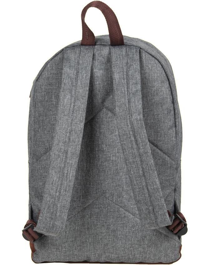 48a711f4d0b21 Szary Plecak Vintage Damski Młodzieżowy [19-229S] iplecaki.pl