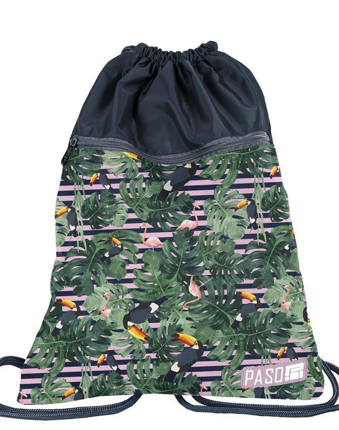 edb9af2021e95 Plecak Młodzieżowy Szkolny Tukany Flamingi Zestaw [PPMS19-2808 ...