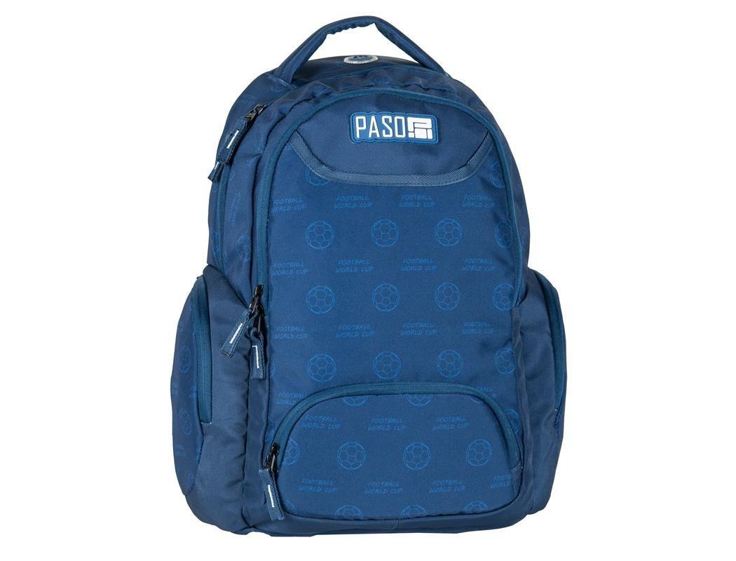 6b5f164c95757 Plecak Młodzieżowy Szkolny Niebieski Piłka Nożna
