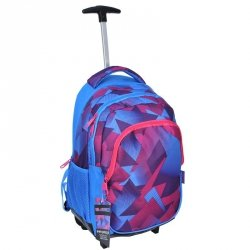 Plecak na kółkach Szkolny Młodzieżowy Niebieski