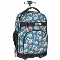 Plecak na Kółkach Szkolny Młodzieżowy w Kwiaty [17-1230UV]