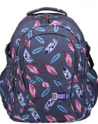 Plecak dla Dziewczyny Młodzieżowy St.Right  Indian Feathers [BP1]