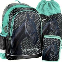 Plecak Szkolny Konie Koń dla Dziewczyny Zestaw [PP19KN-081]