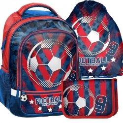 Plecak Szkolny Piłkarski dla Chłopaka Zestaw [18-260FL]