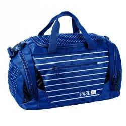 Niebieska Torba Sportowa Podróżna Damska na Fitness Basen Trening
