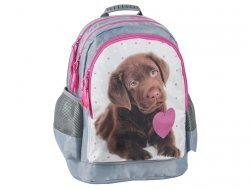 Plecak Szkolny z Pieskiem Pies do Szkoły dla Dziewczyny RHP-116