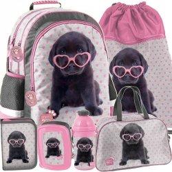 Plecak Szkolny dla Dziewczyny Czarny Labrador [PTB-116]