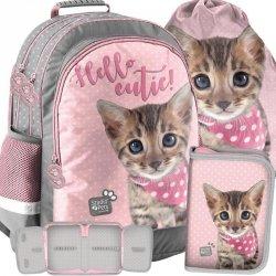 Kotek Plecak Szkolny z Kotem Kot dla Dziewczynki [PJC-116]