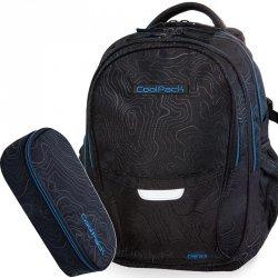 Plecak Cp CoolPack Młodzieżowy Zestaw TOPOGRAPHY BLUE [B02003]