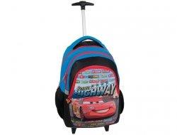 Plecak na Kółkach Zygzak Auta Cars Auto z Autem Szkolny dla Chłopaka