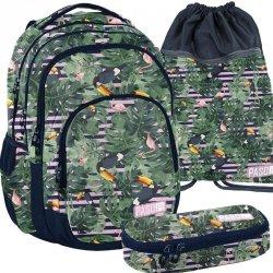 Plecak Młodzieżowy Zestaw Flamingi Tukany [PPMS19-2706]