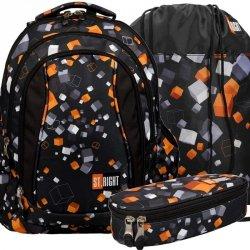 Plecak St.Right Cubes Młodzieżowy Szkolny Kostki Chłopięcy [BP4]