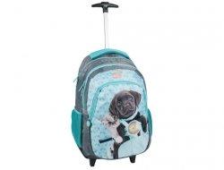 Plecak na Kółkach Pies Kot Szkolny dla Dziewczyny PEF-997