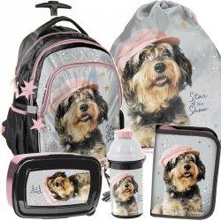Plecak z Kołami Pies Piesek Szkolny dla Dziewczyny [RLF-997]