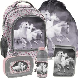 Plecak Szkolny Koń Konie dla Dziewczynki Komplet [PP19HS-260]
