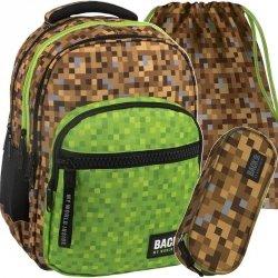 Modny Plecak Minecraft Młodzieżowy BackUP Szkolny [PLB2M39]
