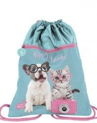 Ładny Worek w Pieski Kotki dla Dziewczyny na Obuwie Buty [PTK-713]