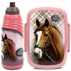 Śniadaniówka Bidon Koń Konie dla Dziewczyny Zestaw 2w1