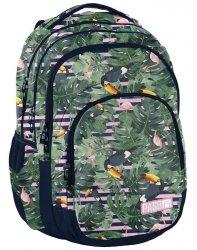 Piękny Plecak Młodzieżowy Szkolny Tukany Flamingi [PPMS19-2706]
