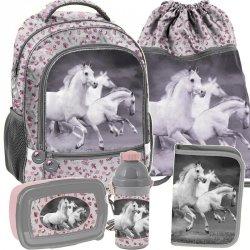 Plecak z Koniami do Szkoły dla Dziewczynki Komplet [PP19HS-260]