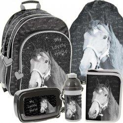 Plecak Szkolny Ciemny Koń dla Dziewczynki Zestaw [PP19KO-090]