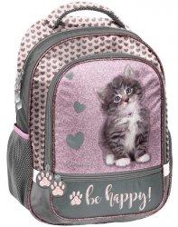 Plecak Szkolny z Kotem Kotek dla Dziewczynki [RLD-260]
