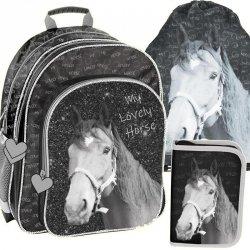 Szkolny Plecak w Konie dla Dziewczynki Zestaw [PP19KO-090]