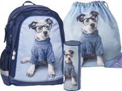 Plecak Szkolny z Pieskiem Pies Zestaw dla Dziewczyny [RHO-081-003-712]