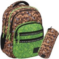 Minecraft Plecak Chłopięcy Szkolny Pixele Gra Gry [PLB3M68]