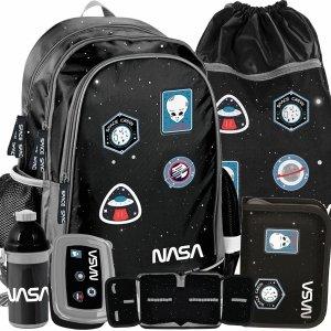 Nowoczesny Plecak dla Uczniów z Naszywkami Szkolny Nasa [PP20NS-081]