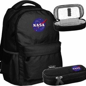 Nasa Czarny Plecak Młodzieżowy BeUniq Szkolny dla Chłopaka [NASA21-2705]