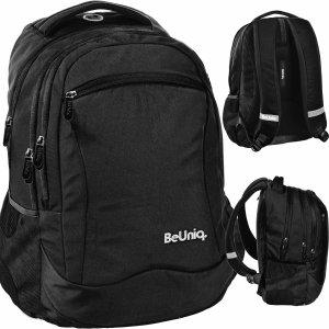 Czarny Plecak dla Młodzieży dla Chłopaka Szkolny BeUniq [PPBK20-2808]