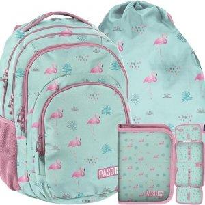 Modny Plecak Różowe Flamingi Młodzieżowy Szkolny [PPLF19-2706]