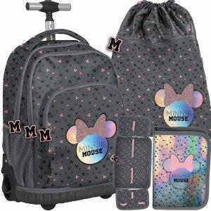 Szkolny Plecak na Kółkach Myszka Minnie Nowoczesny [DMNA-671]