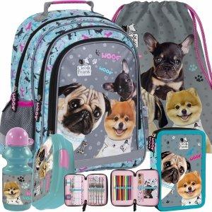 Szkolny Plecak dla Dziewczyny Pieski z Pieskami Derform [PL15BCF28 ]