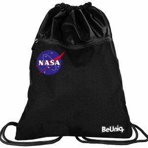 Duży Worek Nasa Czarny 2-komorowy na Buty BeUniq  [NASA21-713]