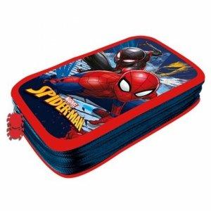 Spider Man Piórnik Szkolny dla Uczniów Dwukomorowy [607921]