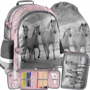 Plecak Szkolny Zestaw dla Dziewczyny Paso Koń [PP21HO-116]