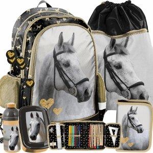 Plecak w Konie dla Dziewczynki do Szkoły Podstawowej na Plecy [PP20H-081]
