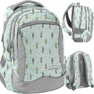 Plecak Młodzieżowy Kaktusy Dziewczęcy Miętowy Szkolny [PPGD20-2808]