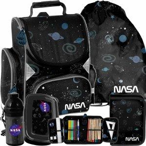 Tornister do 1 Klasy NASA Chłopięcy Czarny Paso [PP21NS-525]
