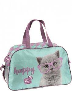 Torba Dziecięca Sportowa Kot w Okularach dla Dziewczynki [PTF-074]