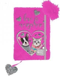 Pamiętnik Pluszowy dla Dziewczynki z Kotkiem Pieskiem [PEU-3673]