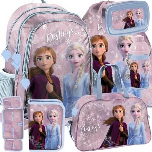 Modny plecak Szkolny Frozen dla Dziewczynki Mega Komplet [DOE-081]