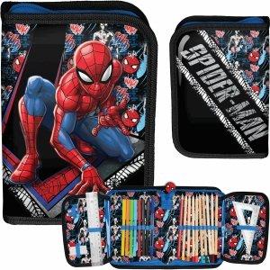 Spiderman Piórnik z Wyposażeniem dla Chłopaka Szkolny [SPW-001]