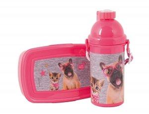 Śniadaniówka Bidon Piesek Kot dla Dziewczyny PEE-3020