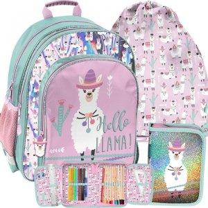 Plecak Szkolny Lamy Kolorowy dla Dziewczynki Paso [PP19LA-090]