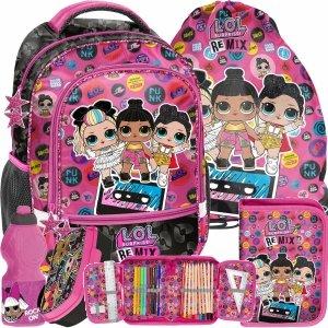 Komplet 5w1 Lol Surprise Plecak Szkolny dla Dziewczynek [LOC-260]