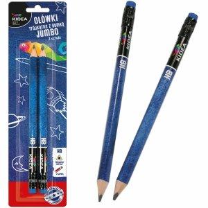 Ołówek HB do Nauki Pisania Trójkątny Jumbo Gruby Kidea [OTGG2KA]